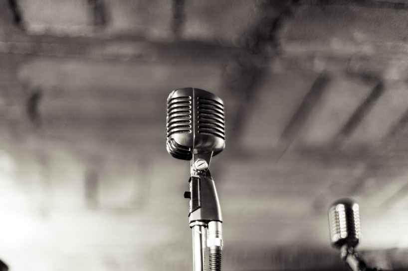 night music band microphone