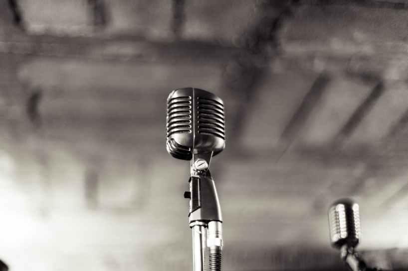 night music band microphone